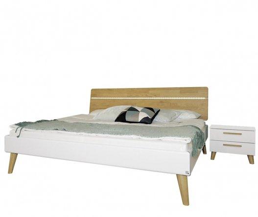 Bed Hout Kopen.Tweepersoons Retro Bed Slaapkamerweb