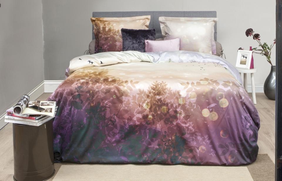 Katoen satijnen dekbedovertrek forrest slaapkamerweb