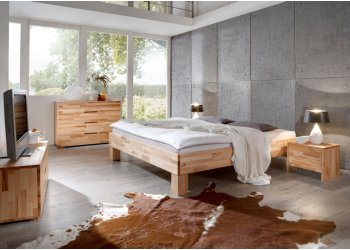 Massief beuken houten bed Sjors