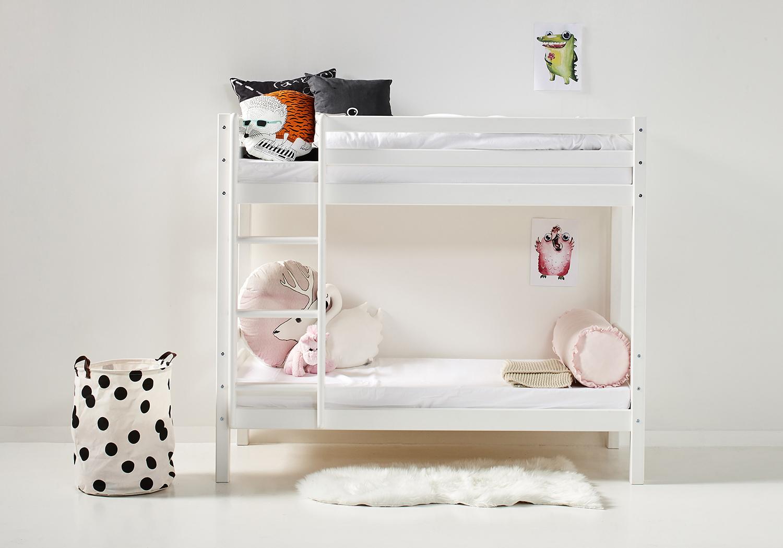 Wit Houten Stapelbed.Stapelbed Wit Voor Kinderen 70 X 160 Slaapkamerweb