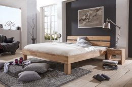 Massief houten bed