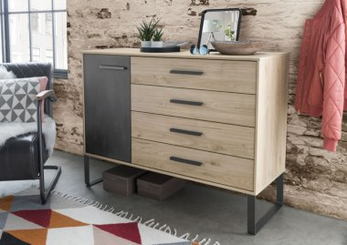 Commode Comfort Industrial met deur en laden