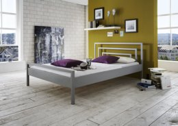 Metalen bed Stella zilver