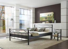 Tweepersoons metalen bed Lotus