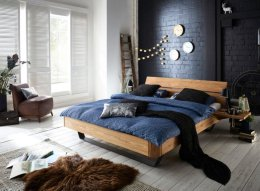 Massief houten bed eiken geolied
