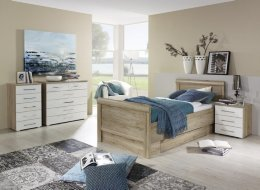 Wild eiken kleurig bed Mio plus