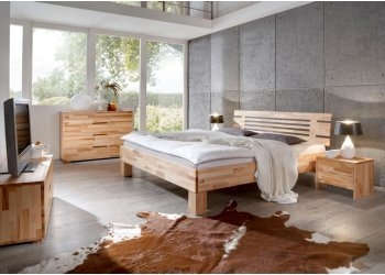 Massief houten bed Lars kern beuken geolied