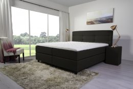 Tweepersoons boxspring taupe