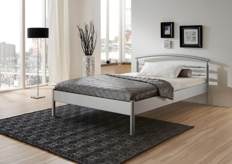 Julia bed zilver