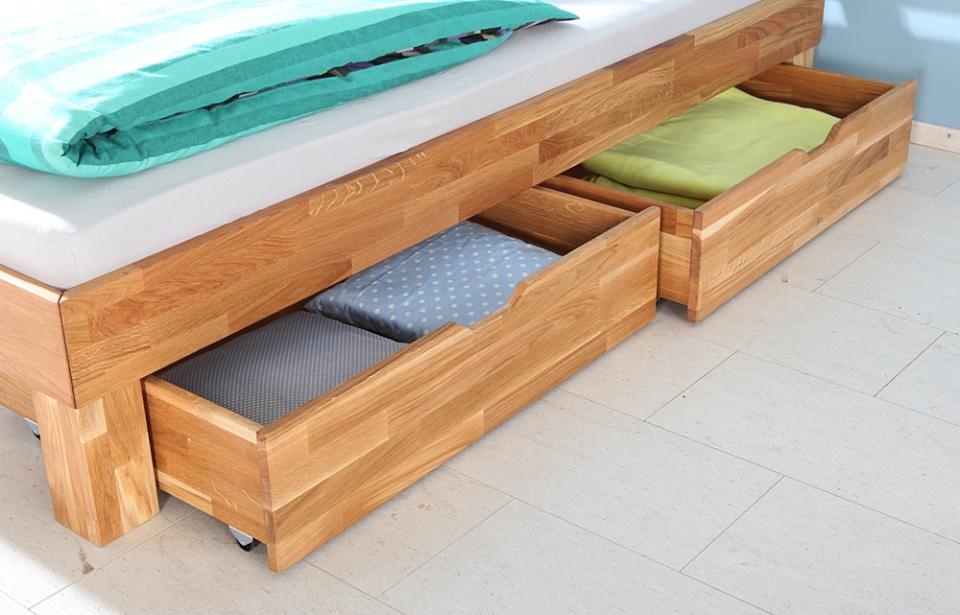 Eenpersoonsbed Met Opbergruimte : Massief eenpersoons houten bed marrit slaapkamerweb
