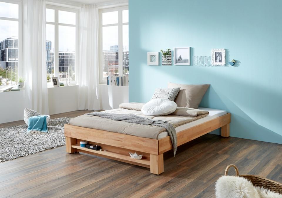 Bed 140x200 Hout.Massief Houten Bed Classic Slaapkamerweb