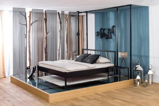 Eclipse tweepersoons metalen bed