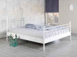 Wit metalen bed