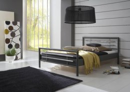 tweepersoons metalen bed Amanda antraciet