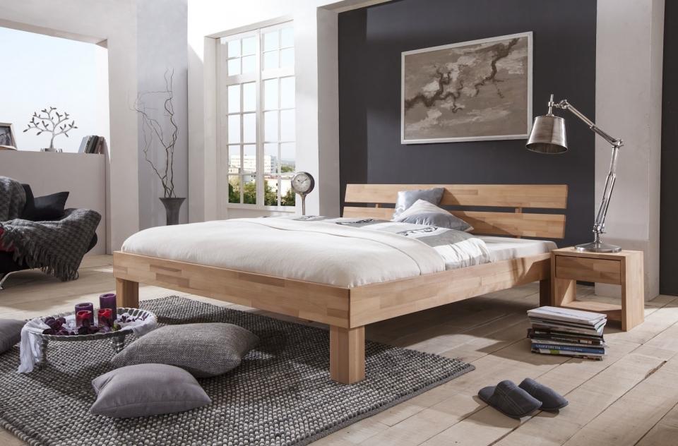 Bed 140x200 Hout.Massief Houten Bed Marrit Slaapkamerweb