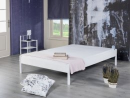 Tweepersoons metalen bed wit