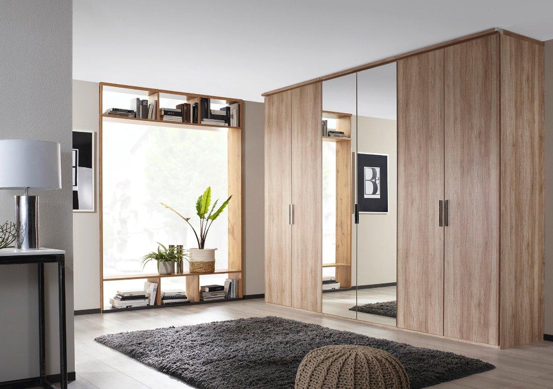 Witte Kledingkast Met Spiegel.Moderne Kledingkast Draaideurkast Modern Slaapkamerweb