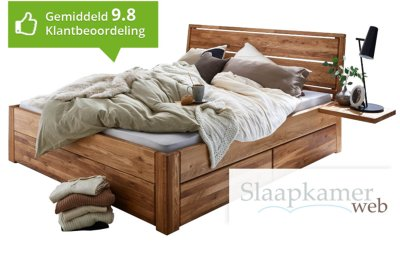 Massief bed 180x220