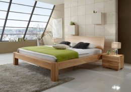Massief beuken geolied houten bed