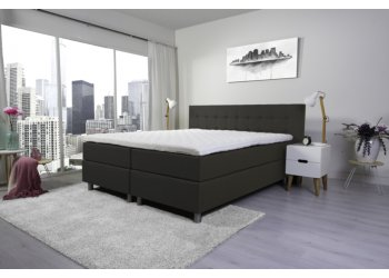 Tweepersoons boxspring Lyam taupe