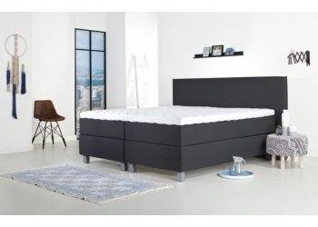 Tweepersoons boxspring antraciet