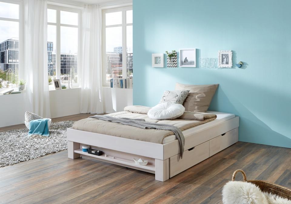Bed 140x200 Compleet.Massief Houten Bed Classic Slaapkamerweb