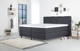 Tweepersoons boxspring Kyano antraciet