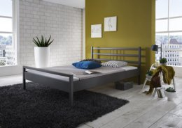 Metalen bed Sina antraciet