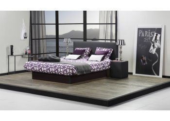 Waterbed Drops lederlook zwart